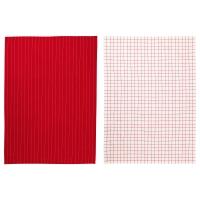 ИКЕА/365+ Полотенце кухонное, красный, белый