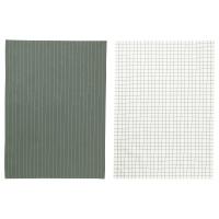 ИКЕА/365+ Полотенце кухонное, зеленый, белый