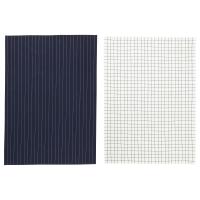 ИКЕА/365+ Полотенце кухонное, синий, белый