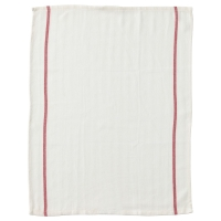 ТЕКЛА Полотенце кухонное, белый, красный