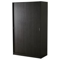 ТОДАЛЕН Гардероб с раздвижными дверьми, черно-коричневый
