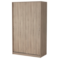 ТОДАЛЕН Гардероб с раздвижными дверьми, серо-коричневый