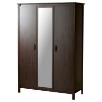 БРУСАЛИ Шкаф платяной 3-дверный, коричневый