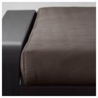 ПОЭНГ Табурет для ног, черно-коричневый, Кимстад темно-коричневый