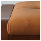 ПОЭНГ Табурет для ног, классический коричневый, Кимстад темно-коричневый