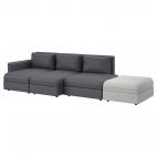 ВАЛЛЕНТУНА 4-местный диван, Мурум черный