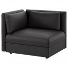 ВАЛЛЕНТУНА Секция дивана со спинкой, Мурум черный