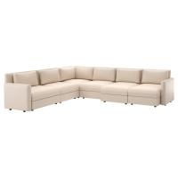 ВАЛЛЕНТУНА 6-местный угловой диван, Мурум бежевый