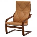 ПОЭНГ Кресло, классический коричневый, Кимстад темно-коричневый