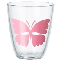ПОББИГ Стакан, бабочка, розовый