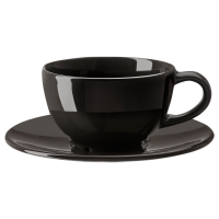 ВАРДАГЕН Чашка кофейная с блюдцем, темно-серый