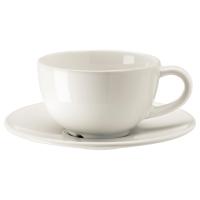 ВАРДАГЕН Чашка кофейная с блюдцем, белый с оттенком
