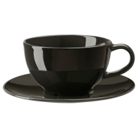 ВАРДАГЕН Чашка чайная с блюдцем, темно-серый