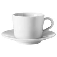 ИКЕА/365+ Чашка с блюдцем, белый