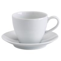 ВЭРДЕРА Чашка кофейная с блюдцем, белый