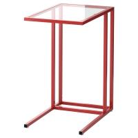 ВИТШЁ Подставка д/ноутбука, красный, стекло