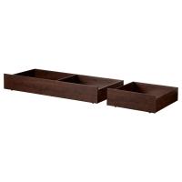 БРУСАЛИ Кроватный ящик, 2 шт., коричневый