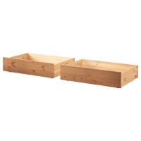 ГУРДАЛЬ Ящик кроватный, светло-коричневый