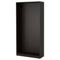 ПАКС Каркас гардероба, черно-коричневый