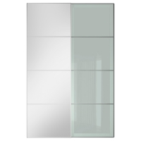 АУЛИ/СЭККЕН Пара раздвижных дверей, зеркальное стекло, матовое стекло