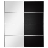 АУЛИ/ИЛЬСЕНГ Пара раздвижных дверей, зеркальное стекло, черно-коричневый