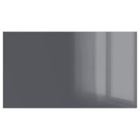УГГДАЛЬ 4 панели д/рамы раздвижной дверцы, серый стекло