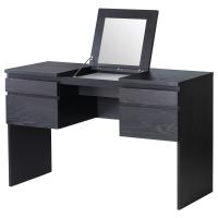 РАНСБИ Туалетный столик с зркл, черно-коричневый