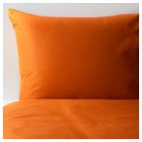 ДВАЛА Пододеяльник и 1 наволочка, оранжевый