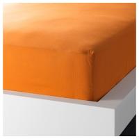 ДВАЛА Простыня натяжная, оранжевый