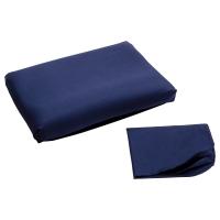 ДВАЛА Наволочка для эргоном подушки, темно-синий