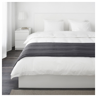 ГУЛЬРЕГН Дорожка на кровать, серый