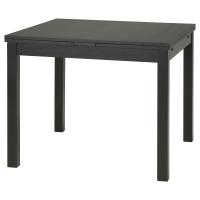 БЬЮРСТА Раздвижной стол, коричнево-чёрный