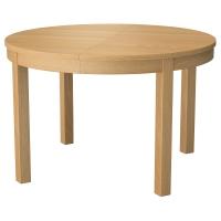 БЬЮРСТА Раздвижной стол, дубовый шпон
