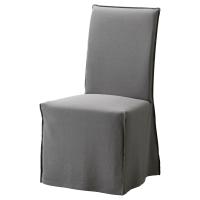 ХЕНРИКСДАЛЬ Чехол для стула, длинный, Рисане серый