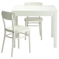 БЬЮРСТА/ИДОЛЬФ Стол и 2 стула, белый