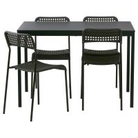 ТЭРЕНДО/АДДЕ Стол и 4 стула, черный