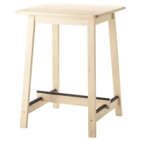 НОРРОКЕР Барный стол, белый береза