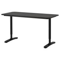 БЕКАНТ Письменный стол, черно-коричневый, черный