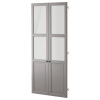 ЛИАТОРП Панельн/стеклян дверца, серый