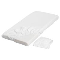 ЛЕН Простыня натяжн для кроватки, белый