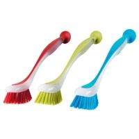 ПЛАСТИС Щетка для мытья посуды, разные цвета
