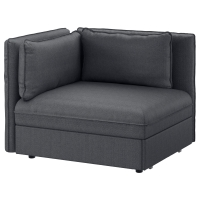 ВАЛЛЕНТУНА Секция дивана-кровати со спинкой, Хилларед зеленый