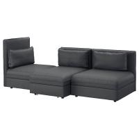 ВАЛЛЕНТУНА 3-местный диван-кровать, Хилларед темно-серый