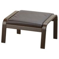 ПОЭНГ Подушка-сиденье на табурет для ног, Кимстад темно-коричневый
