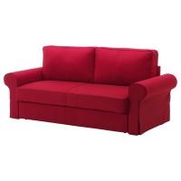 БАККАБРУ Чехол на 3-местный диван-кровать, Нордвалла темно-серый