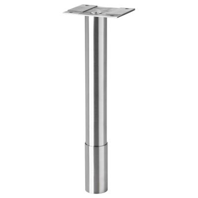 ГОДМОРГОН ножка круглой формы нержавеющая сталь