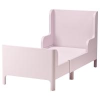 БУСУНГЕ Раздвижная кровать, светло-розовый