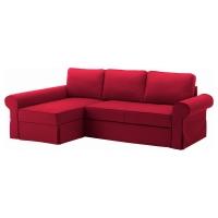 БАККАБРУ Чехол на диван-кровать с козеткой, Нордвалла красный