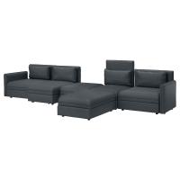 ВАЛЛЕНТУНА 5-местный диван-кровать, Хилларед темно-серый