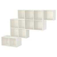ЭКЕТ Комбинация настенных шкафов, белый, темно-серый
